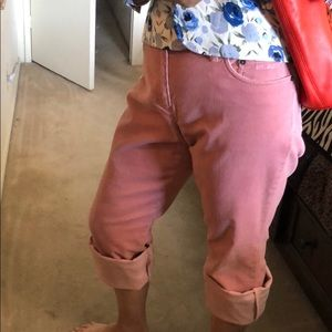 Ralph Lauren pink corduroy pants/ cropped or full